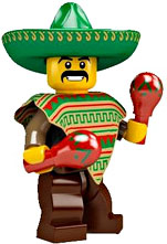 LEGO Minifigure Collection Series 2 LOOSE Mini Figure Mexican