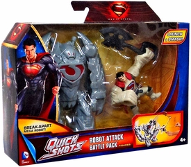 Man of Steel Movie Quick Shots Battle Pack Robot Attack