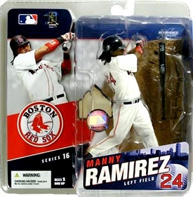 McFarlane Toys MLB Sports Picks Series 16 Action Figure Manny Ramirez (Boston Red Sox) White Jersey