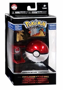 Pokemon TOMY Trainer's Choice Catch 'n' Return Poke Ball Typhlosion & Poke Ball