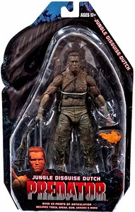 NECA Predator Movie Series 9 Action Figure Jungle Disguise Dutch Schaefer [Arnold Schwarzengger]