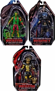 NECA Predator Movie Series 11 Set of 3 Action Figures  [Wasp, Armored Lost & Thermal Dutch]