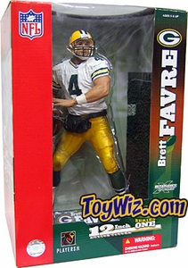 McFarlane Toys NFL Sports Picks 12 Inch DELUXE Exclusive Action Figure Brett Favre (Green Bay Packers) White Jersey Variant