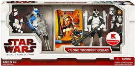 Star Wars 2009 Legacy Collection Exclusive Action Figure 4-Pack Clone Trooper Squad