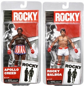 NECA Rocky Series 1 Set of Both PRE-FIGHT Action Figures [Rocky Balboa & Apollo Creed]