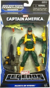 Captain America Marvel Legends Action Figure Agents of Hydra {Green & Yellow Suit} [Build Mandroid Piece!]