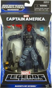 Captain America Marvel Legends Action Figure Agents of Hydra {Red Skull} [Build Mandroid Piece!] BLOWOUT SALE!