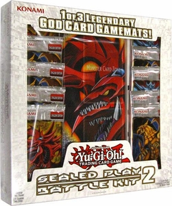 YuGiOh Battle of the Giants Sealed Play Battle Kit 2 [10 Packs & 1 Slifer Playmat]