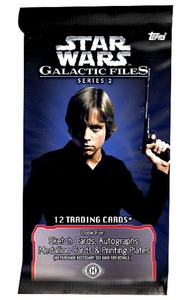 Star Wars Topps Galactic Files Series 2 Trading Card Pack