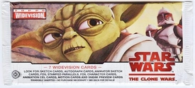 Topps Star Wars Clone Wars WIDEVISION Hobby Trading Card Pack
