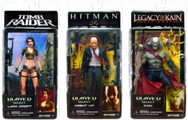 NECA Player Select Series 1 Set of 3 Action Figures [Agent 47, Lara Croft & Kain]