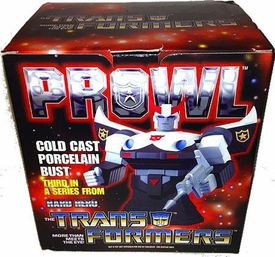 Transformers Hard Hero Cold Cast Porcelain Bust Prowl