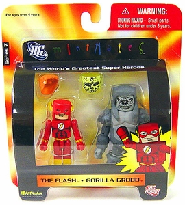 DC Universe Minimates Series 7 Mini Figure 2-Pack Flash & Gorilla Grodd
