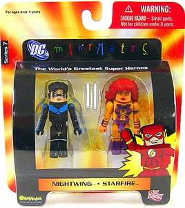 DC Universe Minimates Series 7 Mini Figure 2-Pack Nightwing & Starfire