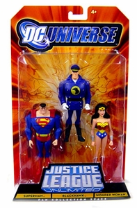 DC Universe Justice League Unlimited Fan Collection Action Figure 3-Pack Superman, Blackhawk & Wonder Woman