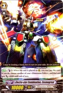 Cardfight Vanguard ENGLISH Comic Style Vol 1 Single Card Promo PR-0043EN Electro-star Combination, Cosmogreat