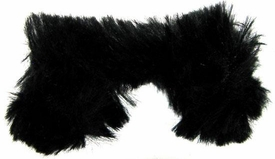 Monster High 10.5 Inch Scale LOOSE Doll Accessory Black Fur Shrug