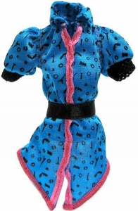 Monster High 10.5 Inch Scale LOOSE Doll Accessory Turquoise & Black Scaris Belted Shirt with Pink Trim