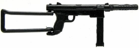 GI Joe 3 3/4 Inch LOOSE Action Figure Accessory Black Carl Gustav M/45 with Folding Stock