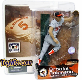 McFarlane Toys MLB Cooperstown Series 1 Action Figure Brooks Robinson (Baltimore Orioles) Gray Jersey Variant