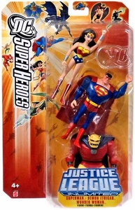 DC Super Heroes Justice League Unlimited Action Figure 3-Pack Wonder Woman, Superman & Demon Etrigan [Yellow - Orange Card]