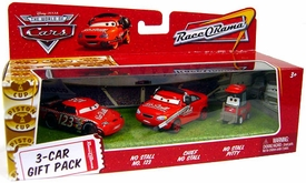 Disney / Pixar CARS Movie 1:55 Die Cast Cars 3-Car Gift Pack No Stall, Chief No Stall & Pitty