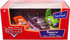 Disney / Pixar CARS Movie 1:55 Die Cast Series 2 Supercharged 3-Pack Tunerz Vehicles [Boost, Snot Rod & Wingo]