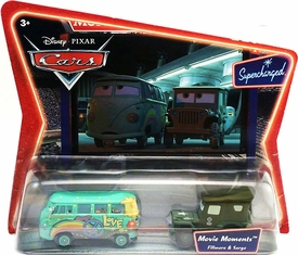 Disney / Pixar CARS Movie Moments 1:55 Die Cast Figure 2-Pack Series 2 Supercharged Fillmore & Sarge