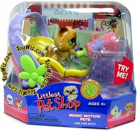 Littlest Pet Shop Magic Motion Pets Feed Me Brown Cat