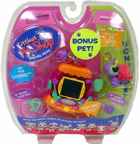Littlest Pet Shop Virtual Electronic Digital Pet Toy (Similar to Tamagotchi) Butterfly with BONUS Butterfly Figure