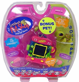 Littlest Pet Shop Virtual Electronic Digital Pet Toy (Similar to Tamagotchi) Turtle with BONUS Turtle Figure
