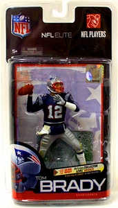 McFarlane Toys NFL Sports Picks Exclusive NFL Elite Series 1 Action Figure Tom Brady (New England Patriots) Blue Jersey