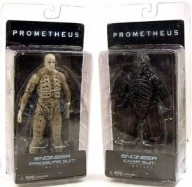 NECA Prometheus Series 1 Set of Both Engineer Action Figures [Chair Suit & Pressure Suit]