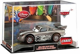 Disney / Pixar CARS Movie Exclusive 1:43 Die Cast Car In Plastic Case Silver Hot Rod Lightning McQueen