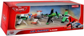 Disney PLANES Exclusive 1:55 Die Cast 4-Pack Air Ambush [Super Charged Dusty, Zed, Ned & Ripslinger]