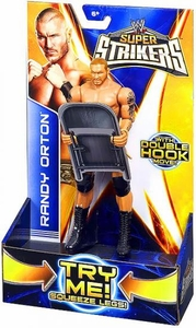 Mattel WWE Wrestling Super Strikers Action Figure Randy Orton [Chair is Cardboard, Not Plastic!]