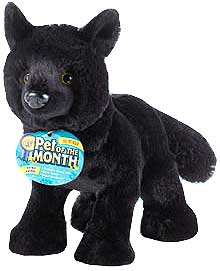 Webkinz Plush Black Wolf Pre-Order ships April