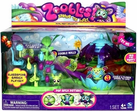 Zoobles Petal Point Playset Blossoming Garden [Includes #181 Iris]