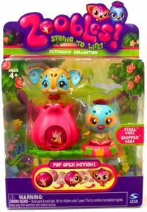 Zoobles Toy Petagonia Animal Mini Figure 2-Pack #23 Fidel & #24 Chipper