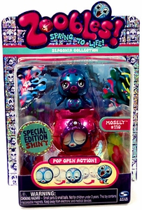 Zoobles Toy Petagonia Animal Special Edition Fuzzy Mini Figure #110 Mosely