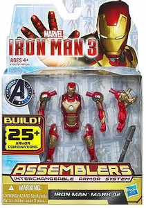 Iron Man 3 Assemblers Series 1 Action Figure Iron Man Mark 42 [Gold & Red]