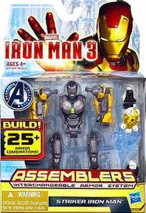 Iron Man 3 Assemblers Series 2 Action Figure Striker Iron Man [Gray & Yellow]
