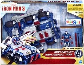 Iron Man 3 Movie Exclusive Concept Series Vehicle & Figure 2-Pack Iron Patriot with Iron Assault Tank