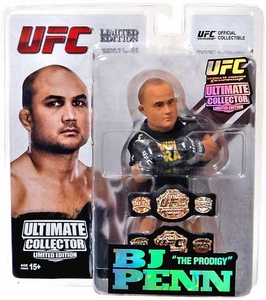 Round 5 UFC Ultimate Collector Series 12 LIMITED EDITION Action Figure BJ Penn [2 Championship Belts!] Only 1,500 Made!