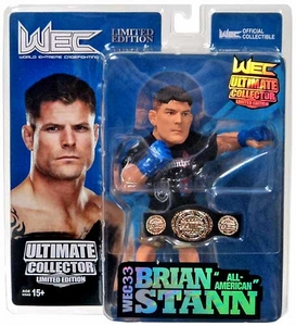 Round 5 UFC Ultimate Collector Series 12 WEC CHAMPIONSHIP EDITION Action Figure Brian Stann with Belt! Only 750 Made!