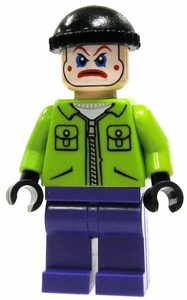 LEGO Batman LOOSE Mini Figure Joker's Henchman In Clown Make-Up & Lime Jacket