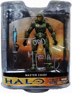 Halo 3 McFarlane Toys Series 1 Action Figure Master Chief Autographed by Todd McFarlane!