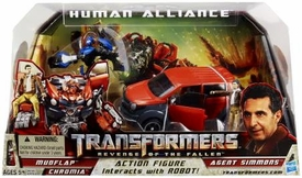 Transformers 2: Revenge of the Fallen Movie Human Alliance Mudflap with Agent Simmons