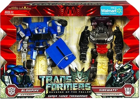 Transformers 2: Revenge of the Fallen Movie Exclusive Deluxe 2-Pack Super Tuner Throwdown Blowpipe & Sideways
