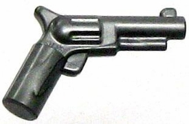LEGO LOOSE Weapon Silver Colt Revolver Pistol 'Six Shooter'